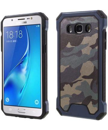 Samsung Galaxy J5 2016 Camouflage Hoesje Blauw Hoesjes