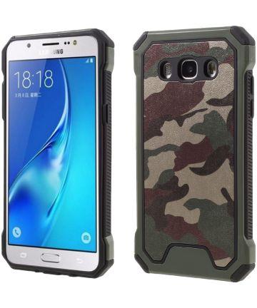 Samsung Galaxy J5 2016 Camouflage Hoesje Groen