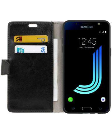 Samsung Galaxy J5 2016 Flip Hoesje met Stand Zwart