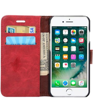 Apple iPhone 7 / 8 Book Cover Hoesje Rood