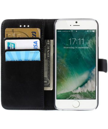 Apple iPhone 6(S) Portemonnee Hoesje Zwart