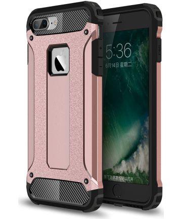 Hybride Apple iPhone 7 Plus / 8 Plus Hoesje Roze Hoesjes
