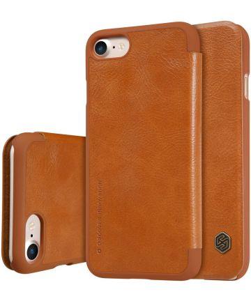 Nillkin Qin Book case Apple iPhone 7 / 8 Bruin Hoesjes