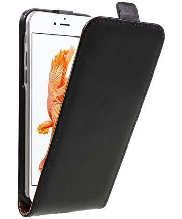 Leren Verticale Apple iPhone 7 / 8 Flip Hoesje Zwart
