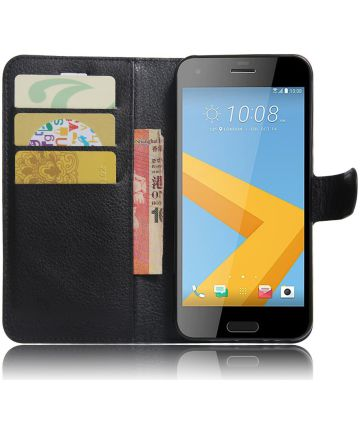 HTC One A9s Portemonnee Hoesje Zwart
