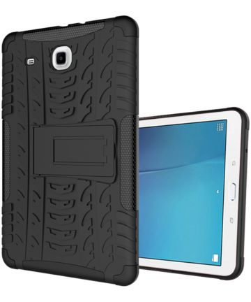 Hybride Samsung Galaxy Tab E (9.6) Back Cover Zwart Hoesjes