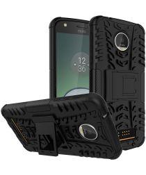 Hybride Motorola Moto Z Play Hoesje Zwart