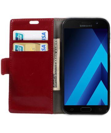 Samsung Galaxy A5 (2017) Stijlvol Portemonnee Hoesje Rood