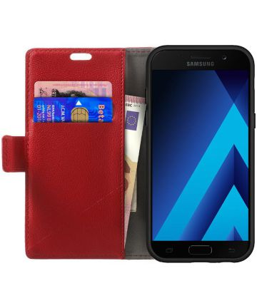 Samsung Galaxy A5 (2017) Wallet Hoesje Rood