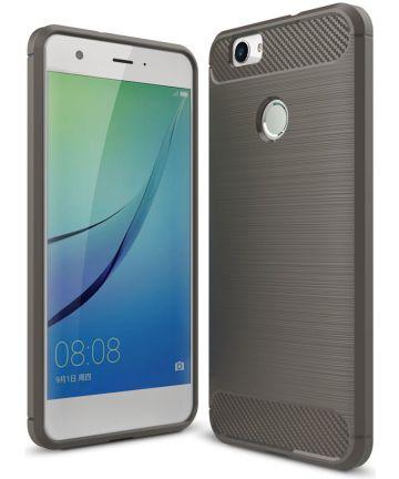 Huawei Nova Geborsteld TPU Hoesje Grijs