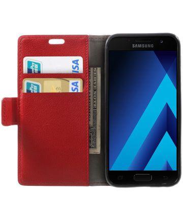 Samsung Galaxy A3 (2017) Stijlvol Portemonnee Hoesje Rood