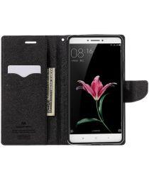 Mercury Goospery Wallet Hoesje Xiaomi Mi Max Zwart
