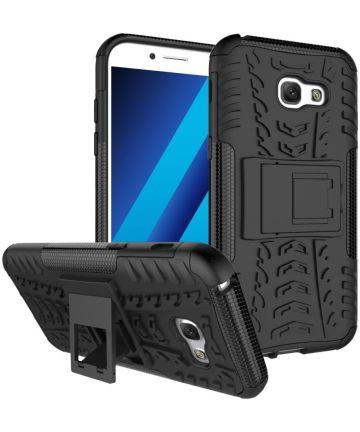 Stevig Samsung Galaxy A5 2017 Backcover Hoesje Zwart Hoesjes