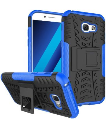 Stevig Samsung Galaxy A5 2017 Backcover Hoesje Blauw Hoesjes