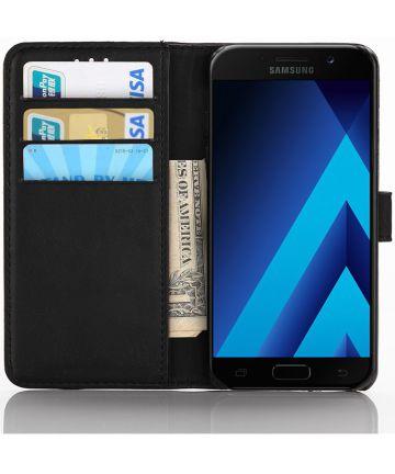 Samsung Galaxy A5 2017 Bookcover Retro Hoesje Zwart