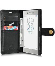 Sony Xperia XZ / XZs Echt Leren Portemonnee Hoesje Zwart