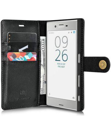 Sony Xperia XZ / XZs Echt Leren Portemonnee Hoesje Zwart Hoesjes