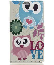 Samsung Galaxy A5 (2017) Portemonnee Print Hoesje Love Owls