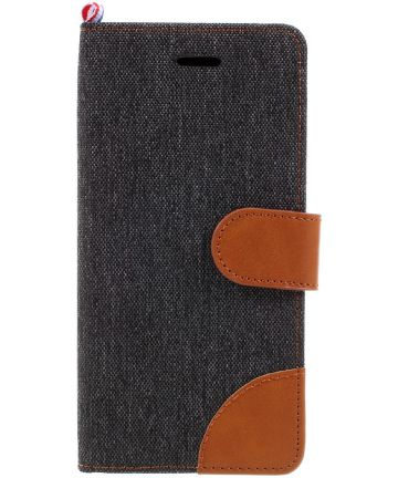 Samsung Galaxy Galaxy A5 (2017) Denim Portemonnee Hoesje Zwart