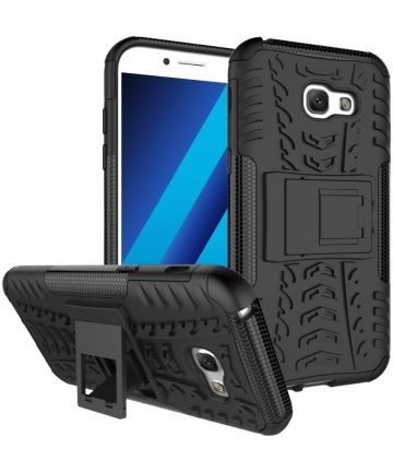 Hybride Samsung Galaxy A3 (2017) Back Cover Zwart Hoesjes