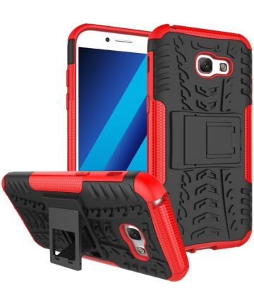 Hybride Samsung Galaxy A3 (2017) Back Cover Rood