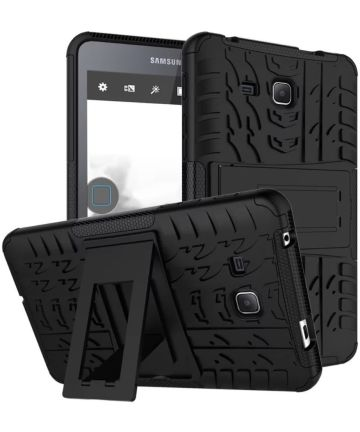 Samsung Galaxy Tab A 7.0 Hybride Kickstand Hoes Zwart Hoesjes