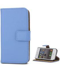 Apple iPhone 4(S) Lederen Hoesje Blauw