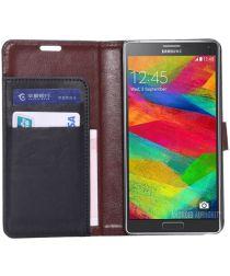 Samsung Galaxy Note 4 Portemonnee Hoesje Zwart