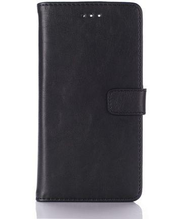 Huawei P9 Retro Style Wallet Flip Case Zwart