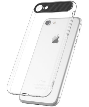 ROCK Transparant iPhone 7 / 8 TPU hoesje Wit