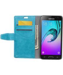 Samsung Galaxy J3 (2016) Portemonnee Hoesje Blauw