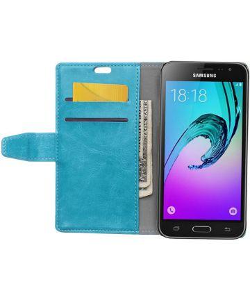 Samsung Galaxy J3 (2016) Portemonnee Hoesje Blauw Hoesjes