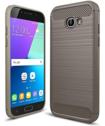 Samsung Galaxy A5 2017 Geborsteld TPU Hoesje Grijs
