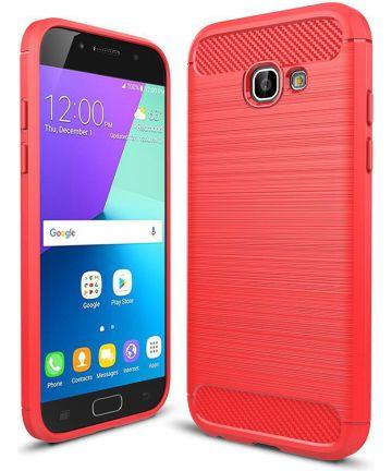 Samsung Galaxy A5 2017 Geborsteld TPU Hoesje Rood