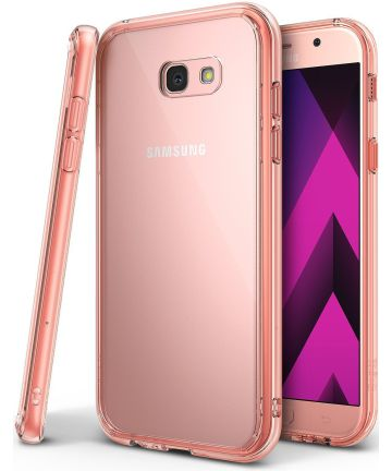 Ringke Fusion Samsung Galaxy A5 2017 Hoesje Doorzichtig Rose Gold