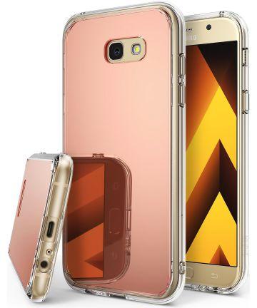 Ringke Fusion Mirror Samsung Galaxy A5 2017 spiegel hoesje Rose Gold