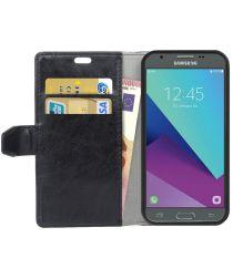 Samsung Galaxy J3 (2017) Portemonnee Hoesje Lychee Zwart