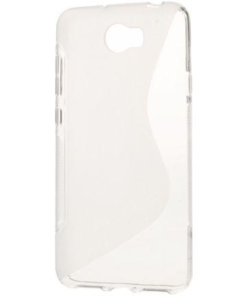Huawei Y6 II Compact S-Shape TPU Hoesje Transparant Hoesjes