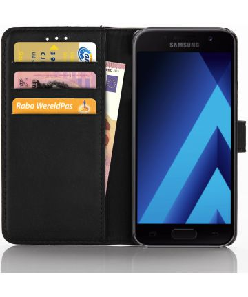 Samsung Galaxy A3 2017 Book Cover Zwart