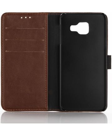 Samsung Galaxy A3 2017 Book Cover Brown Hoesjes