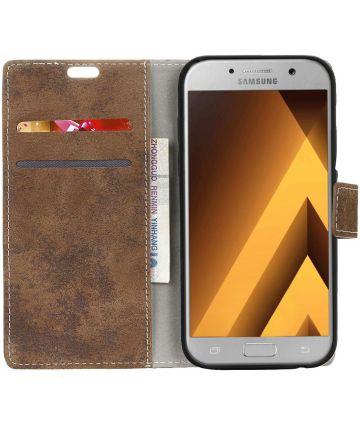 Samsung Galaxy A5 (2017) Retro Portemonnee Hoesje Bruin