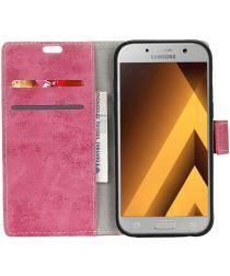 Samsung Galaxy A5 (2017) Retro Portemonnee Hoesje Roze