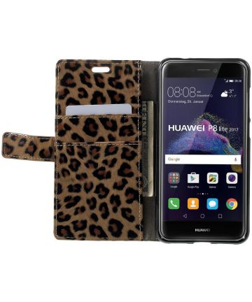 Huawei P8 Lite (2017) Wallet Case met Print Leopard