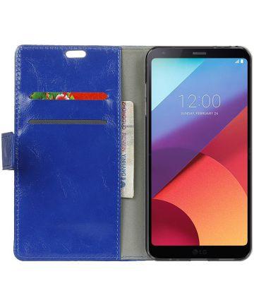 LG G6 Portemonnee Hoesje Blauw