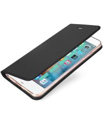 Dux Ducis Apple iPhone 6(S) Bookcase Hoesje Donker Grijs