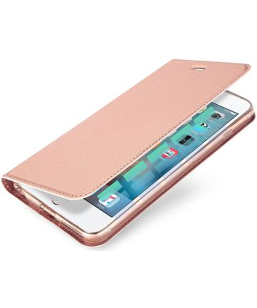 Dux Ducis Apple iPhone 6(S) Bookcase Hoesje Roze Goud