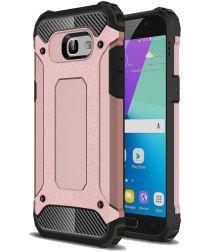 Samsung Galaxy A5 (2017) Hybride Beschermhoesje Roze Goud
