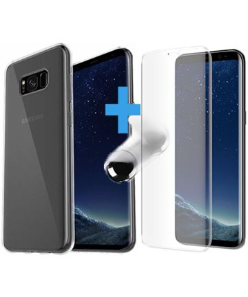 Otterbox Clearly Protected Skin + Alpha Glass Samsung Galaxy S8 Plus Hoesjes