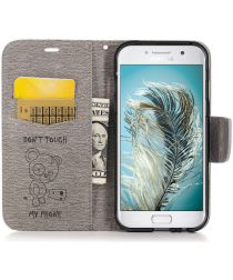 Samsung Galaxy A5 (2017) Portemonnee Hoesje Dont Touch Beer Grijs