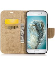 Samsung Galaxy A5 (2017) Portemonnee Hoesje Dont Touch Beer Bruin